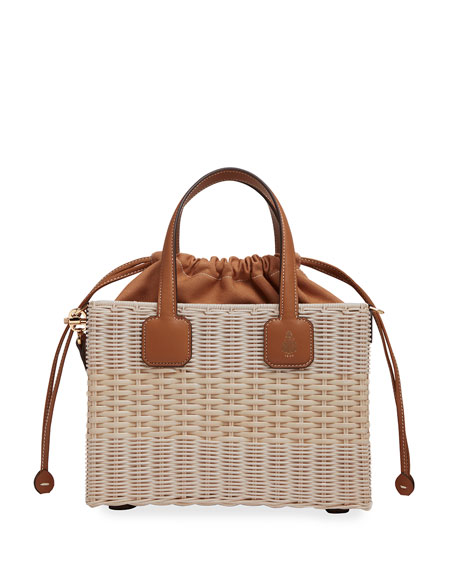 Mark Cross Manray Small Rattan Bucket Bag