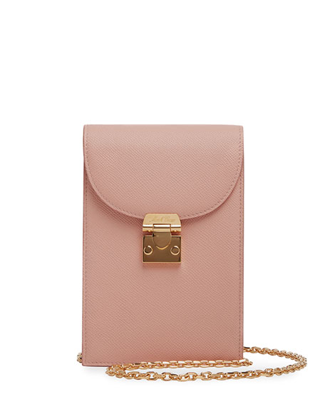 Mark Cross Francis Soft Saffiano Chain Crossbody Bag