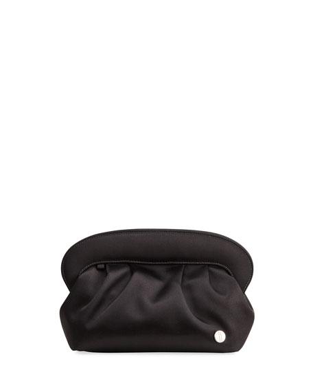 Hayward Ballou Ruched Satin Clutch Bag