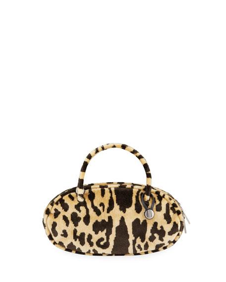 Hayward Leopard-Printed Pill Box Clutch Bag