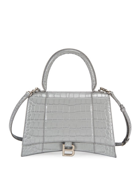 Balenciaga Hourglass Mock-Croc Top Handle Bag
