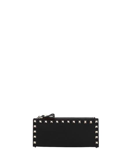 Valentino Garavani Rockstud Zip Wristlet Wallet