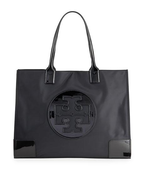 Tory Burch Ella Patent Quadrant Top Handle Tote Bag