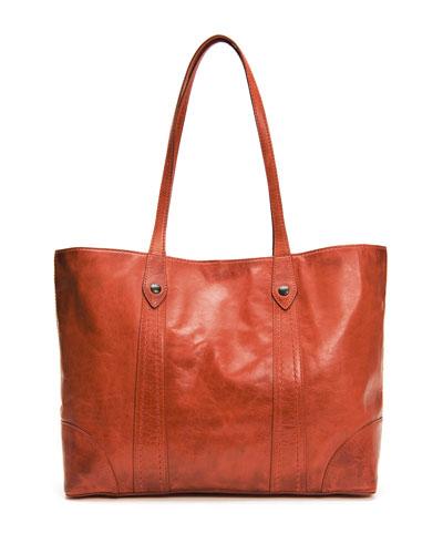 Melissa Leather Shopper Tote Bag