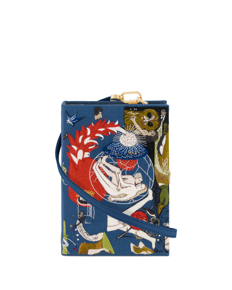 Olympia Le-Tan Bosch Garden of Earthly Delights Book Clutch Bag