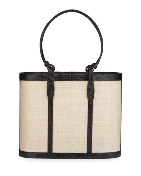 Hunting Season Lizard Ring Handle Basket Bucket Bag
