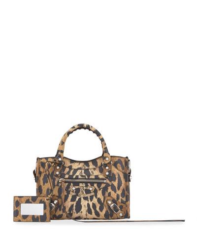 Classic City Mini AJ Leopard Satchel Bag