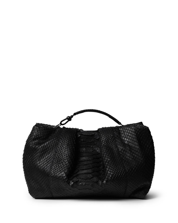 Python Top Handle Clutch Bag
