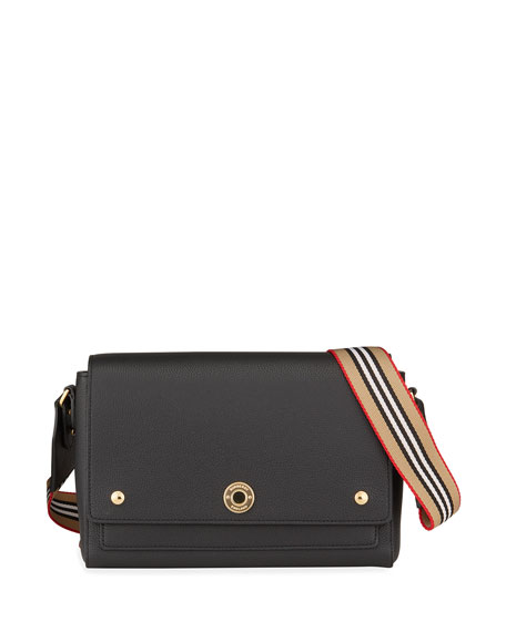 Burberry Note Medium Convertible Leather Crossbody Bag