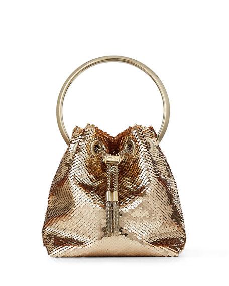 Jimmy Choo Bon Bon Sequin Top Handle Bag