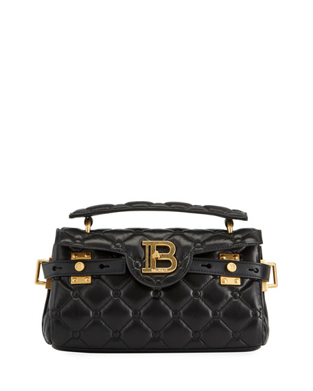 Balmain BBuzz 26 Quilted Lambskin Shoulder Bag