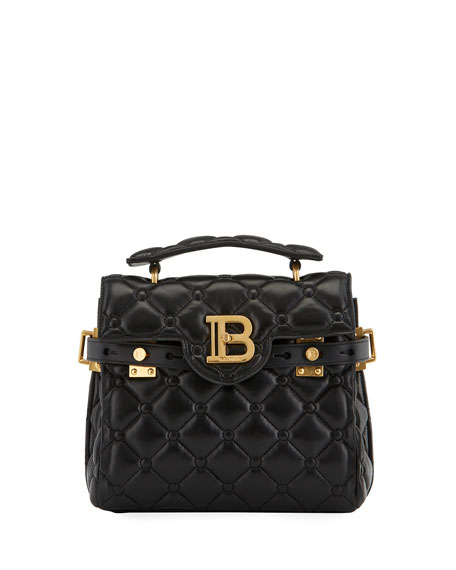 Balmain BBuzz 23 Quilted Lambskin Shoulder Bag