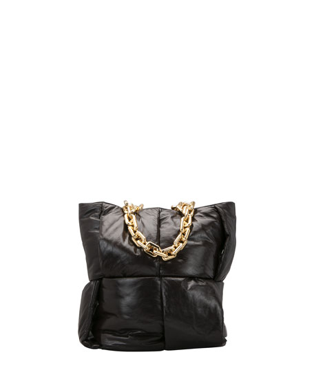 Bottega Veneta Intrecciato Puffy Chain Top Handle Tote Bag