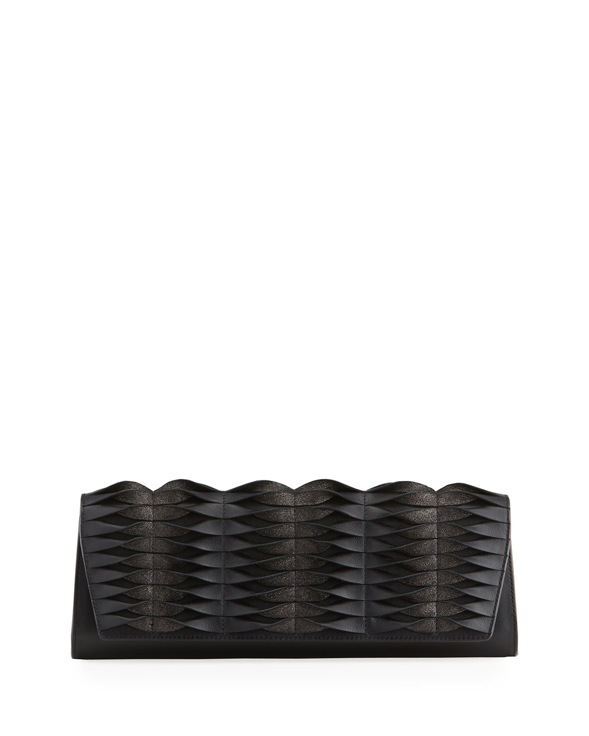 Anouk Pleated Leather Clutch Bag
