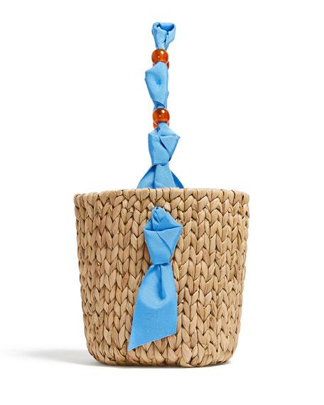 Pamela Munson Petite Woven Basket Tote Bag