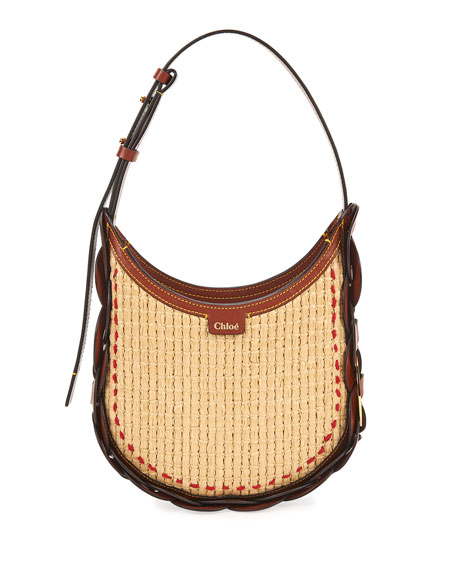 Chloe Darryl Small Raffia Hobo Bag