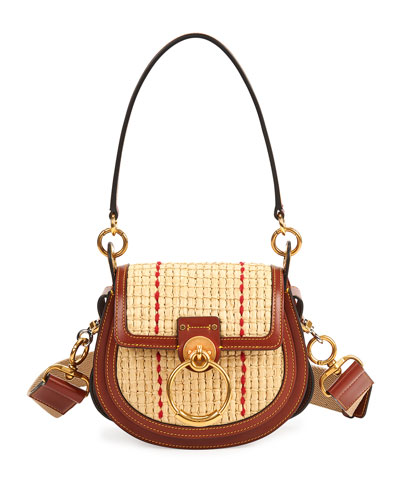 Tess Small Raffia Crossbody Bag