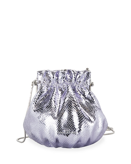 The Marc Jacobs The Soiree Textured Metallic Shoulder Bag