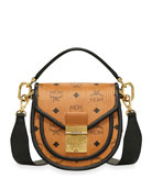MCM Patricia Mini Visetos Leather Block Shoulder Bag