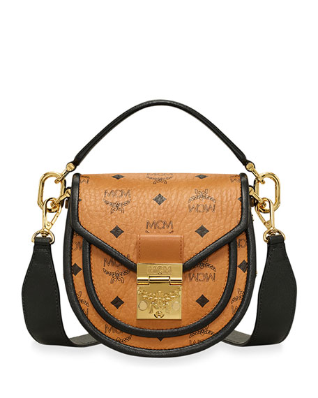 MCM Patricia Mini Visetos Leather Block Shoulder Bag