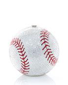 Judith Leiber Couture Sphere Baseball Clutch Bag