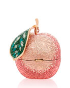 Judith Leiber Couture Apple Peach Shimmery Clutch Bag
