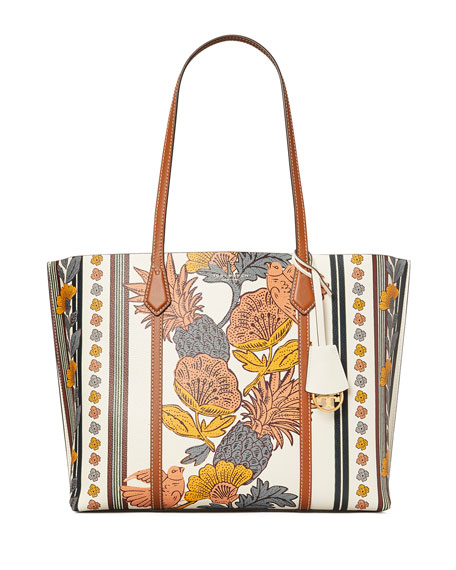 Tory Burch Perry Floral Tote Bag