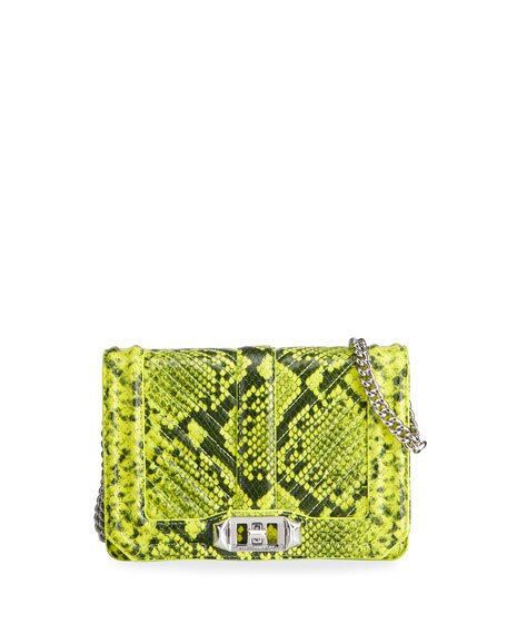 Rebecca Minkoff Snake-Printed Leather Crossbody Bag