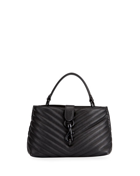 Rebecca Minkoff Edie Quilted Leather Top-Handle Bag