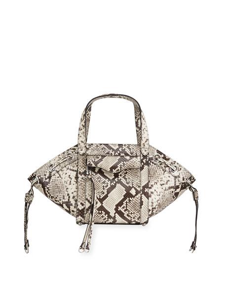 Rebecca Minkoff M.A.B Python-Print Tote Crossbody Bag