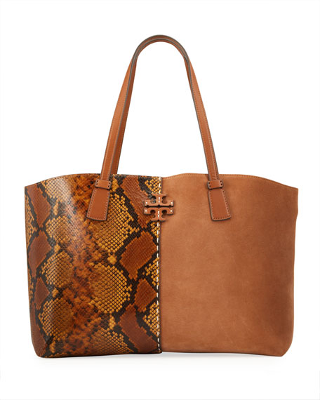 Tory Burch McGraw Exotic Tote Bag