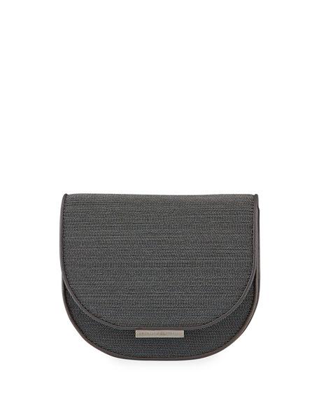 Brunello Cucinelli Monili Half-Moon Crossbody Bag