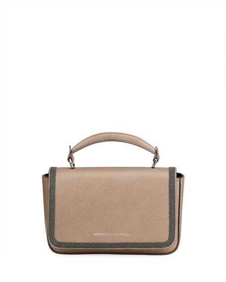 Brunello Cucinelli Monili Leather Top-Handle Bag