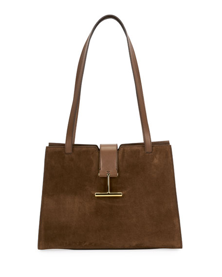 TOM FORD Tara Medium Suede Shoulder Bag