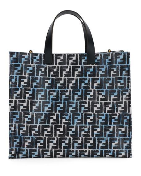 Fendi Vetrifi Small FF Shopping Tote Bag