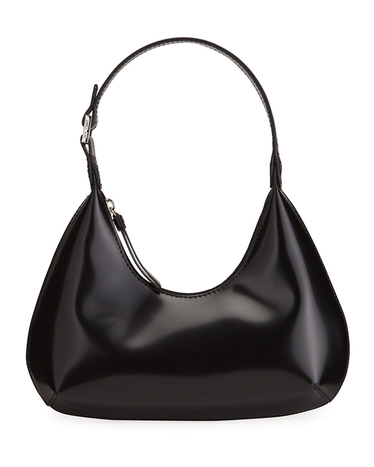 Amber Baby Semi-Patent Leather Shoulder Bag