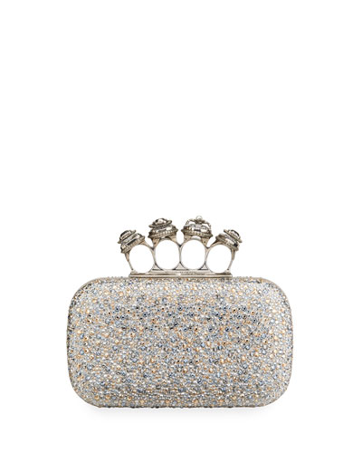 Spider Jeweled Four-Ring Clutch Bag