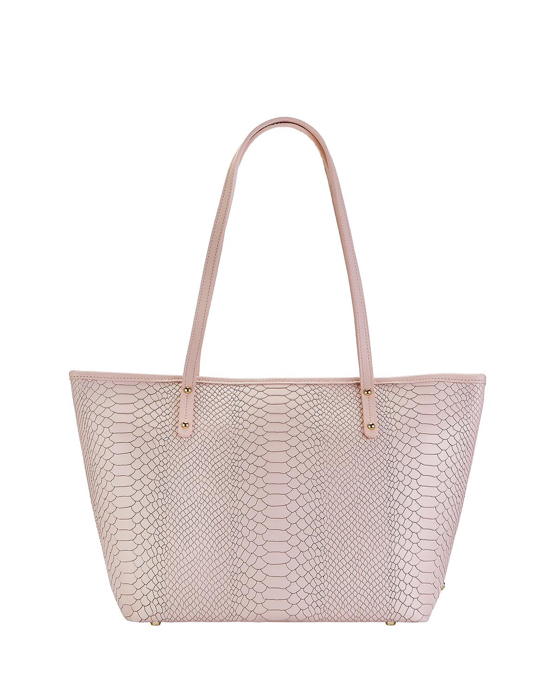 Taylor Snake-Embossed Tote Bag