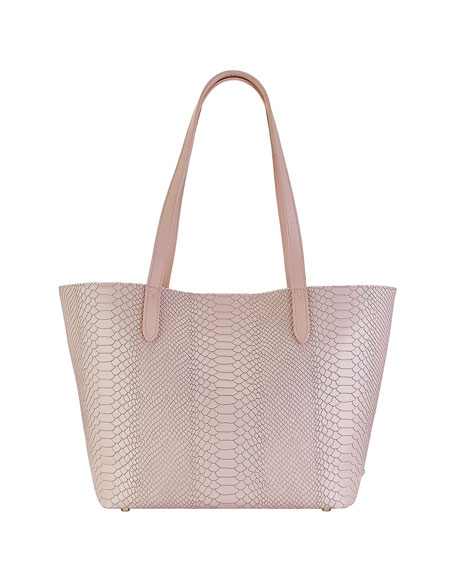 Gigi New York Teddy Snake-Print Tote Bag