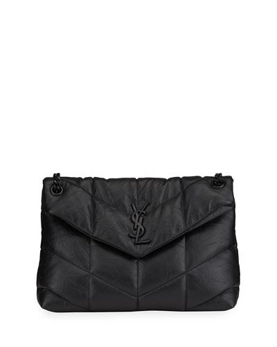 Loulou Puffer Medium YSL Brushed Leather Shoulder Bag