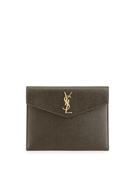 Saint Laurent Uptown YSL Monogram Baby Pouch Wallet