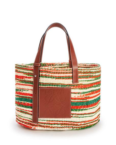 Loewe x Paula's Ibiza Sisal/Calf Basket Tote Bag