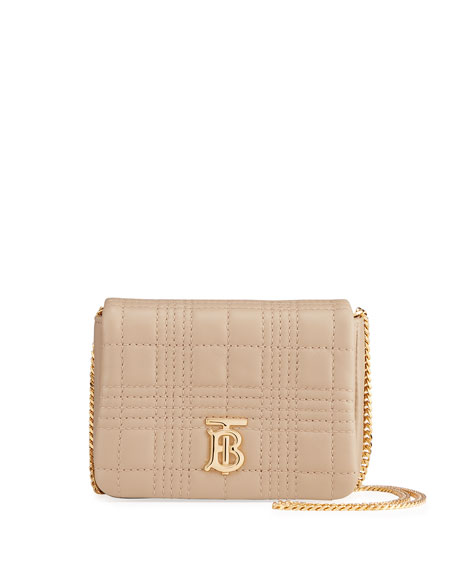 Burberry Lola Square Quilted Shoulder Bag, Beige