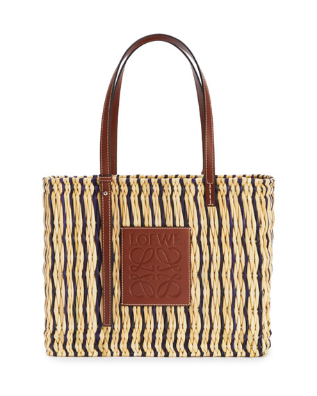 Loewe x Paula's Ibiza Square Reed Basket Tote Bag