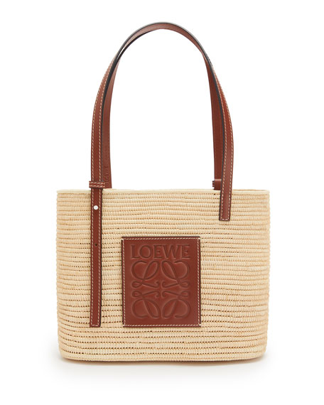 Loewe x Paula's Ibiza Square Raffia Basket Tote Bag