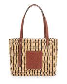 Loewe x Paula's Ibiza Square Reed/Calf Basket Bag