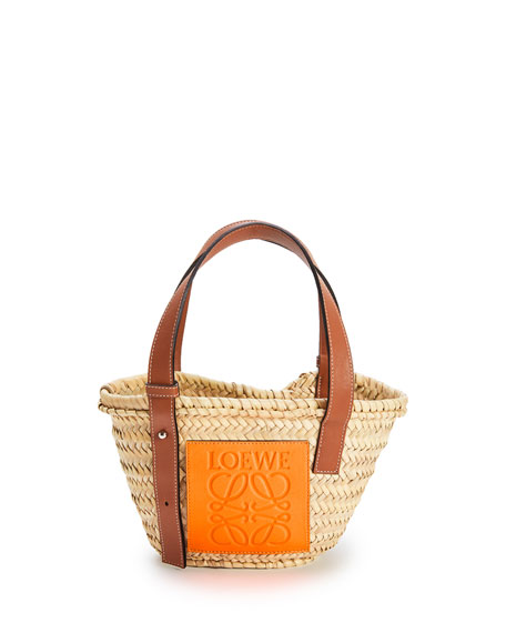 Loewe x Paula's Ibiza Small Palm Basket Tote Bag