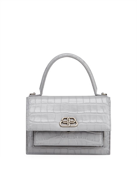 Balenciaga Sharp XS Mock Croc Satchel Bag