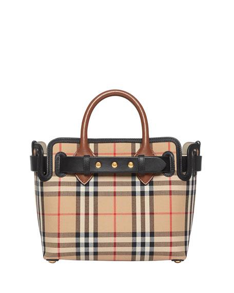 Burberry Baby Belted Vintage Check Satchel Bag