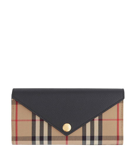 Burberry Halton Vintage Check Envelope Wallet
